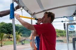 Chris' vuvuzela calling Jaap to hurry up