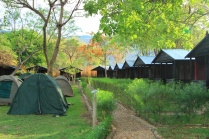 Huts and Camping Area