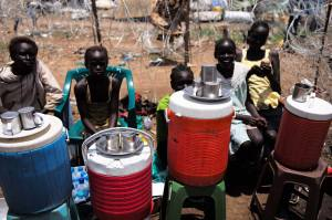 Refugees - 20,000 displaced people were camped in hard conditions fearing the oncoming rains.
