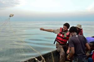 Fishing on Lake Victoria with local fishermen Godfrey and Teacher.  (Tom McShane Photography)