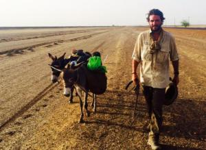 Traded the bicycles for 2 donkeys - meet Kej and Azamak