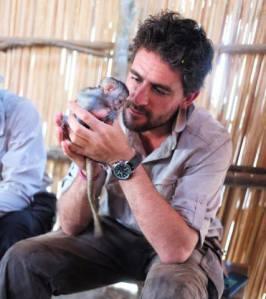 Baby vervet monkey Samuel is rescued by Lev